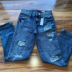 The children's place girls boy fit bling jeans 10